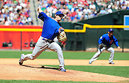 May 1 2011; Phoenix, AZ, USA; Chicago Cubs starting pitcher Casey Coleman (27) delivers a pitch during the third inning against the Arizona Diamondbacks at Chase Field. Mandatory Credit: Jennifer Stewart-US PRESSWIRE..