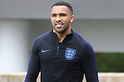England forward Callum Wilson during the training session for England at St George's Park National Football Centre, Burton-Upon-Trent, United Kingdom on 28 May 2019.