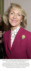 PENELOPE, VISCOUNTESS COBHAM at a lunch in London on 12th March 2001.OMC 51