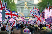 Crowds enjoy the Jubilee concert in the Mall, London, UK. © Guy Bell Photography, GBPhotos