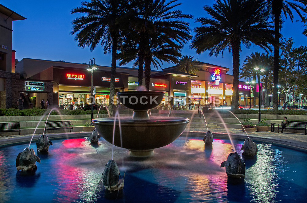 Aliso Viejo Town Center at Night