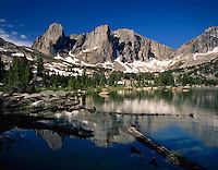 Cirque of the Towers from Lonesome Lake, Popo Agie Wilderness Wind River Range Wyoming USA