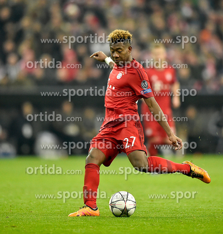 16.03.2016, Allianz Arena, Muenchen, GER, UEFA CL, FC Bayern Muenchen vs Juventus Turin, Achtelfinale, Rueckspiel, im Bild David Alaba FC Bayern Muenchen am Ball // during the UEFA Champions League Round of 16, 2nd Leg match between FC Bayern Munich and Juventus FC at the Allianz Arena in Muenchen, Germany on 2016/03/16. EXPA Pictures &copy; 2016, PhotoCredit: EXPA/ Eibner-Pressefoto/ Weber<br /> <br /> *****ATTENTION - OUT of GER*****