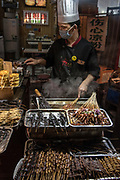 Open air food market in Chengdu, Sichuan, China