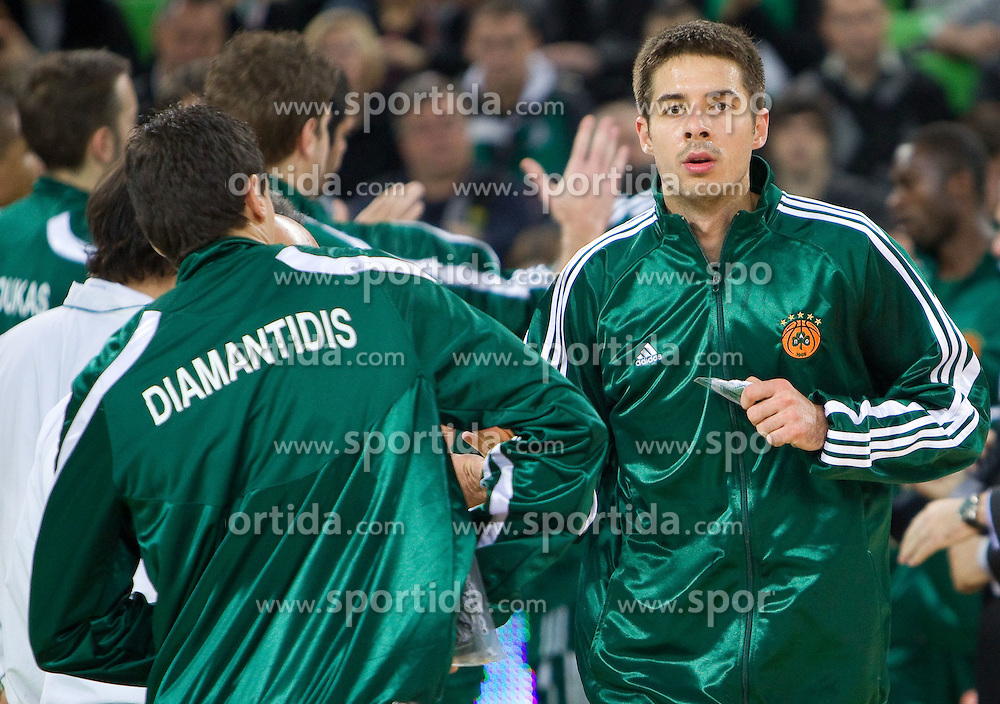 Milenko Tepic of Panathinaikos  during basketball match between KK Union Olimpija (SLO) and Panathinaikos (GRE) in Group D of Turkish Airlines Euroleague, on November 4, 2010 in Arena Stozice, Ljubljana, Slovenia. Union Olimpija defeated Panathinaikos 85-84. (Photo By Vid Ponikvar / Sportida.com)