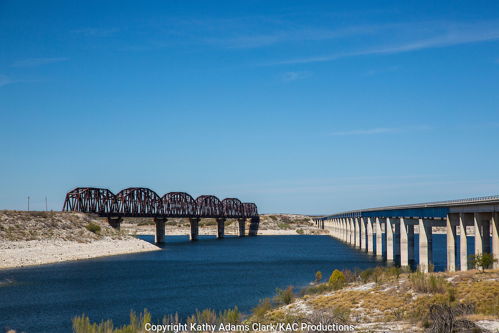 Lake Amistad, west of Del Rio, is a lake shared by Texas and Mexico.