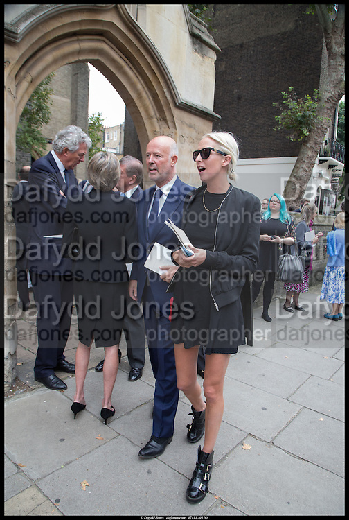 SIMON OAKES; SOPHIA HESKETH, Memorial service for Mark Shand.  . St. Paul's Knightsbridge. September 11 2014.
