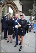 SIMON OAKES; SOPHIA HESKETH, Memorial service for Mark Shand.  . St. Paul's Knightsbridge. September 11 2014.