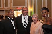"Ohio University President Roderick J. McDavis and Columbus Mayor Michael B. Coleman at ""Celebrating Black Heritage at Ohio University Through the Decades"" at the Black Alumni Reunion Gala in Baker Center on September 28, 2013."