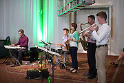 A jazz band performs with Sean Parsons, a lecturer in the school of music, during the Promise Lives Campaign Celebration Gala on Friday, Sept. 11, 2015. Photo by Kaitlin Owens
