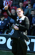 Neil lennon during the Sky Bet Championship match between Brentford and Bolton Wanderers at Griffin Park, London, England on 18 April 2015. Photo by Matthew Redman.