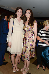 Left to right, LADY LAURA CATHCART and CELIA WEINSTOCK at a party to celebrate Ben Goldsmith guest-editing the July/August 2013 edition of Spears Magazine held at 45 Park Lane, London on 19th June 2013.