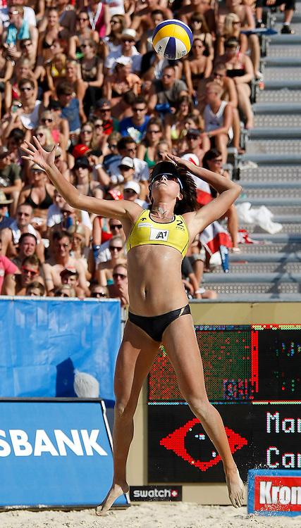 05.08.2011, Klagenfurt, Strandbad, AUT, Beachvolleyball World Tour Grand Slam 2011, im Bild Xi Zhang (CRN), EXPA Pictures © 2011, PhotoCredit EXPA Erwin Scheriau