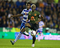 READING, ENGLAND - Tuesday, September 22, 2015: Everton's Arouna Kone in action against Reading during the Football League Cup 3rd Round match at the Madejski Stadium. (Pic by David Rawcliffe/Propaganda)