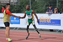 03/08/2017; Mahlangu, Ntando, F42, RSA, Grolla, Phil, F46, GER at 2017 World Para Athletics Junior Championships, Nottwil, Switzerland