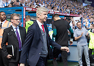 Arsene Wenger of Arsenal walks out for the final time as Arsenal manager before the Premier League match at the John Smiths Stadium, Huddersfield<br /> Picture by James Wilson/Focus Images Ltd 07522 978714<br /> 13/05/2018