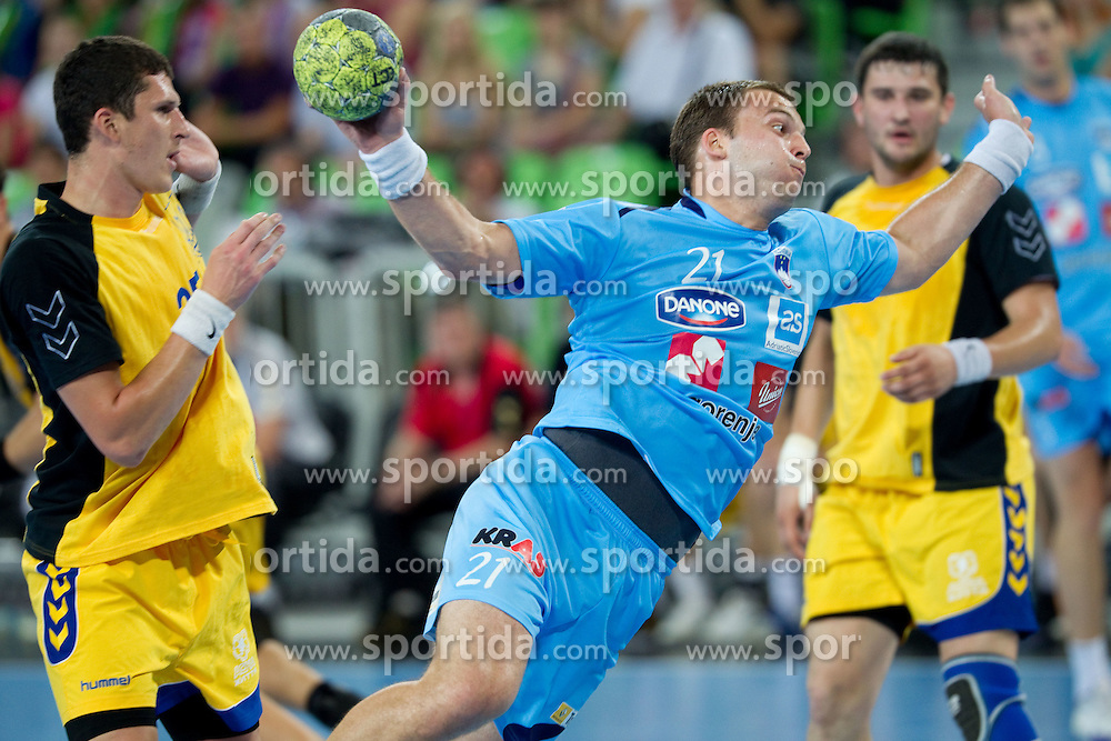 Uros Bundalo of Slovenia during handball match between National teams of Slovenia and Ukraine of 2012 EHF Men's European Championship Play-off, on June 12, 2011 in  Arena Stozice, Ljubljana, Slovenia. Slovenia defeated Ukraine 43-32 and qualified to EURO Serbia 2012 (Photo By Vid Ponikvar / Sportida.com)