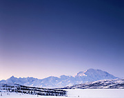 Sunrise, Winter, Ice, snow, Mt. McKinley, Mount McKinley, Denali, Denali National Park, National Park, Alaska