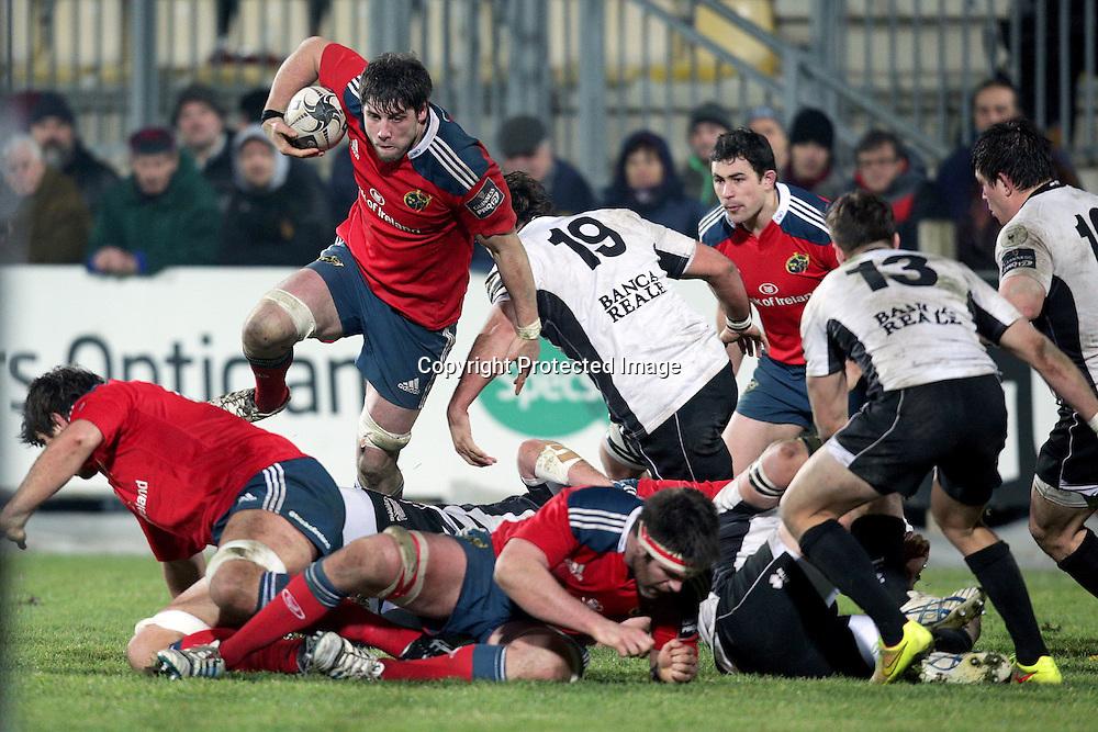 Guinness PRO12, Stadio XXV Aprile, Parma, Italy 10/1/2015<br /> Zebre vs Munster<br /> Munster's Dave O'Callaghan<br /> Mandatory Credit &copy;INPHO/Giuseppe Fama