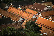 Temple rooftops in the old town, Bangkok, Thailand, Southeast Asia