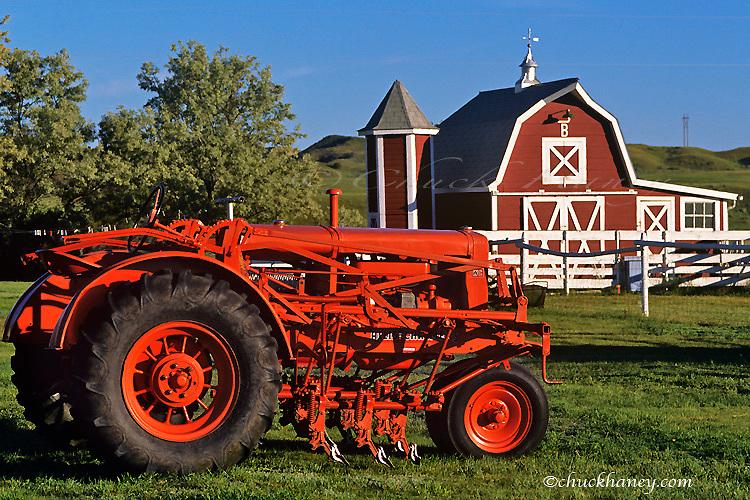 1935 Allis Chalmers WC tractor near Glendive Montana