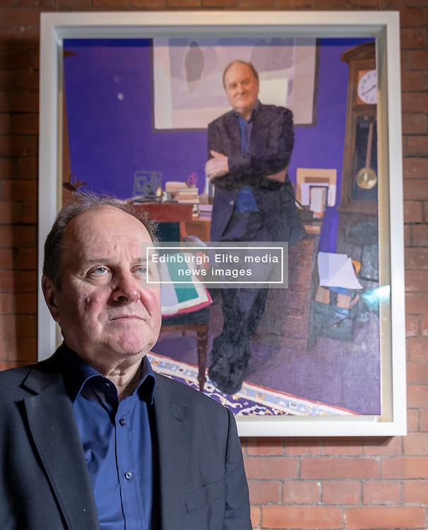 Brendan Kelly's specially-commissioned portrait of the celebrated journalist and broadcaster James Naughtie has been unveiled at the Scottish National Portrait Gallery in Edinburgh.