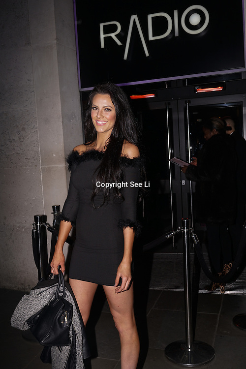 Jessica Cunningham The Apprentice candidate lets hair down at launch of Sixty6 magazine at Radio Rooftop Bar on 6th December 2016, London,UK. Photo by See Li