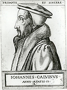 'Jean Calvin (1509-1564) influential French Christian theologian and pastor of the Protestant Reformation. Settled in Geneva, Switzerland in 1541 and practised the branch of religion which bears his name, Calvinism.'