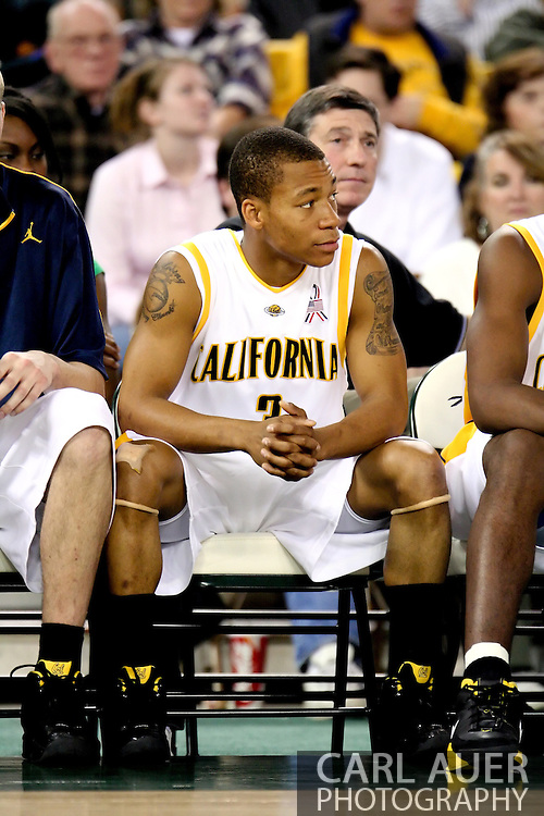 11/25/2006 - Anchorage, Alaska: Freshman guard Jerome Randle (3) of the California Golden Bears takes a breather on the bench as the California Golden Bears beat LMU 78-70 to capture the championship title of the 2006 Great Alaska Shootout<br />