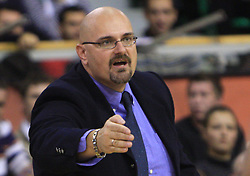 Coach of Olimpija Aleksandar Dzikic at basketball match of 3rd Round of Euroleague between KK Union Olimpija (SLO) and Lottomatica Roma (ITA), in Arena Tivoli, Ljubljana, Slovenia, on November 6, 2008. Lottomatica  won the match 78:67.