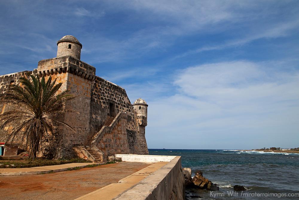 Central America, Cuba, Cojimar. Cojimar Fort,