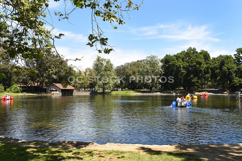 Irvine Regional Park Pond With Paddle Boat Rentals