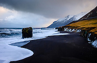 ICELAND - CIRCA MARCH 2015: Rugged coastline close to Hofn in East Iceland during winter time.