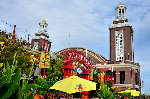 Beer Garden And Hall Twin Towers At Navy Pier In Chicago, Illinois U003cbr /