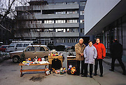 Portrait of the remaining Demirovic family members of Bosnia & Herzegovina, 2001, with whatever new possessions they have acquired since the shooting of their portrait with all of their possessions for Material World: A Global Family Portrait.