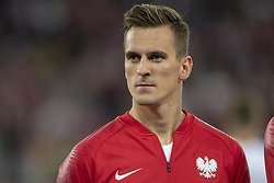 October 14, 2018 - Chorzow, Poland - Arkadiusz Milik of Poland during the UEFA Nations League A match between Poland and Italy at Silesian Stadium in Chorzow, Poland on October 14, 2018  (Credit Image: © Andrew Surma/NurPhoto via ZUMA Press)