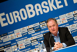 Bozidar Maljkovic, coach of Slovenia during press conference after the basketball game between National basketball teams of Slovenia and Serbia in 7th place game of FIBA Europe Eurobasket Lithuania 2011, on September 17, 2011, in Arena Zalgirio, Kaunas, Lithuania. Slovenia defeated Serbia 72 - 68 and placed 7th. (Photo by Vid Ponikvar / Sportida)