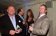 Greg Lake ( Emerson Lake and Palmer) Chris Poole ( behind) Michelle Cotton   and Jim Davidson, Conservative Party Chairmen's Summer reception, House of Commons Terace, 7 July 2004. SUPPLIED FOR ONE-TIME USE ONLY-DO NOT ARCHIVE. © Copyright Photograph by Dafydd Jones 66 Stockwell Park Rd. London SW9 0DA Tel 020 7733 0108 www.dafjones.com