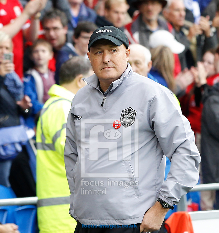 Russell Slade, Manager of Cardiff City during the Sky Bet Championship match at the Cardiff City Stadium, Cardiff<br /> Picture by Mike  Griffiths/Focus Images Ltd +44 7766 223933<br /> 18/10/2014