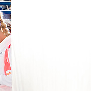 August 22, 2016, New Haven, Connecticut: <br /> Caroline Wozniacki of Denmark waits in the tunnel before a match a match on Day 4 of the 2016 Connecticut Open at the Yale University Tennis Center on Monday August  22, 2016 in New Haven, Connecticut. <br /> (Photo by Billie Weiss/Connecticut Open)
