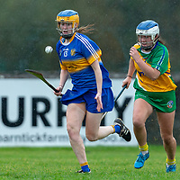 Newmarket-on -Fergus's Joanne Walsh gets away from Inagh-Kilnamona's Sinead Power