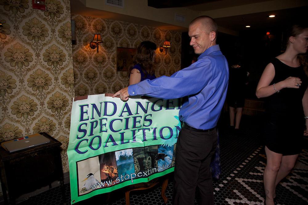 Endangered Species Coalition Leda Tom Jon at Woolworth Building