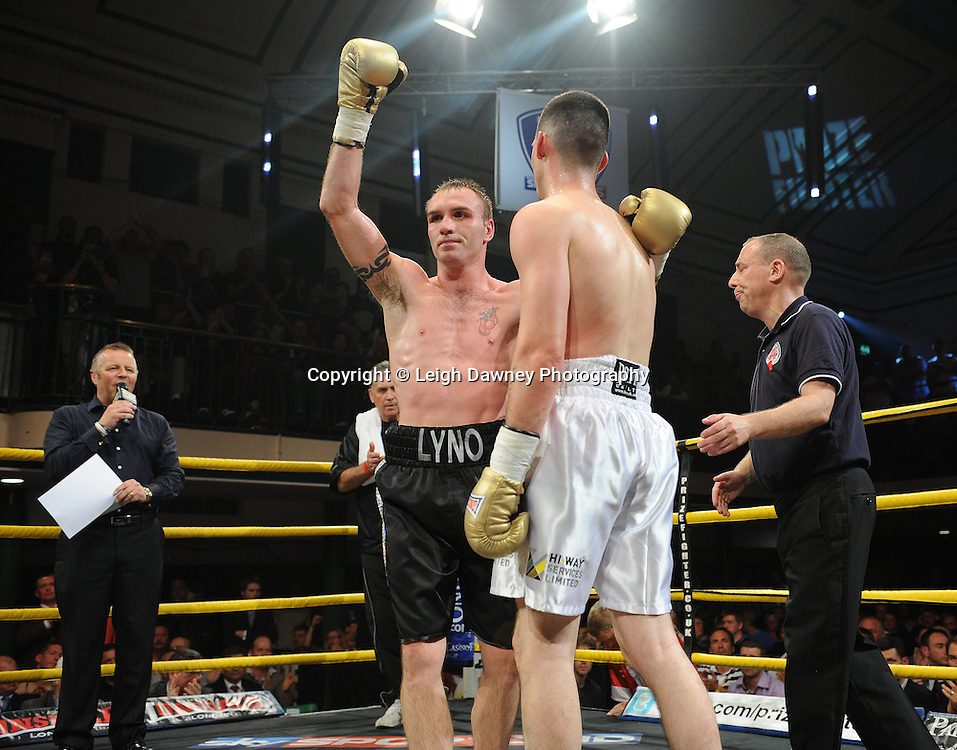 Colin Lynes defeats Bobby Gladman in Quarter Final Three at Prizefighter Welterweights II,York Hall, Bethnal Green ,London. Matchroom Sport/Prizefighter.Photo credit: Leigh Dawney 2011 07.06.11