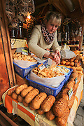 Poland, Zakopane, Cheese market