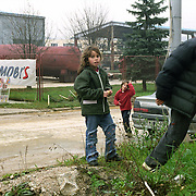Serb children in the street of East Sarajevo, Republika Srpska.