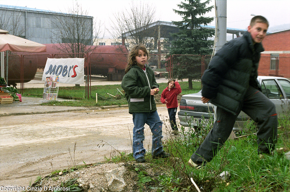 Serb children in the street of East Sarajevo, Republika Srpska.