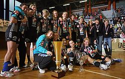 Group shopt od players of Krim at handball game ZRK Celje Celjske Mesnine vs RK Krim Mercator in final match of Slovenian Handball Cup,  on April 6, 2008 in Arena Golovec, Celje, Slovenia. Krim won the game 31:21 and became Cup Winner.  (Photo by Vid Ponikvar / Sportal Images)