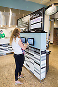 Erica Hass finishes her electroinic order, just one of the new features at Boyd Dinning hall.