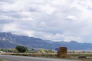 Het plaatsje Lund langs de SR315 in de woestijn van Nevada.<br /> <br /> The small village Lund near the SR315 in the desert of Nevada.