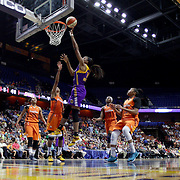 UNCASVILLE, CONNECTICUT- MAY 26:  Nneka Ogwumike #30 of the Los Angeles Sparks drives to the basket for two points  during the Los Angeles Sparks Vs Connecticut Sun, WNBA regular season game at Mohegan Sun Arena on May 26, 2016 in Uncasville, Connecticut. (Photo by Tim Clayton/Corbis via Getty Images)